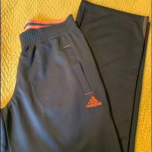 Adidas black w/ orange pants, pockets Small